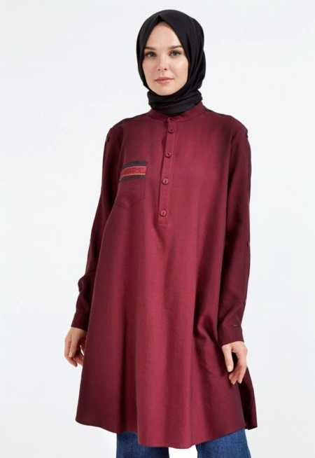 BORDO-KUMAS-MIXLI-TUNIK-1